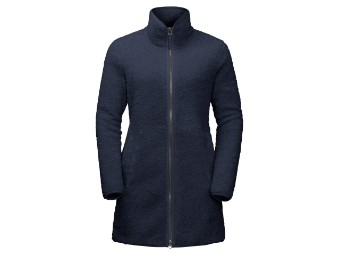 Fleecejacke Jack Wolfskin High Cloud Coat Women Nanuk 300 midnight blue
