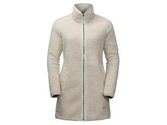 Fleecejacke Jack Wolfskin High Cloud Coat Women Nanuk 300 dusty grey