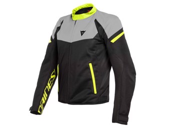 Motorradjacke Dainese Bora Air Tex Jacket Black Magnesio-Matt Fluo-Yellow