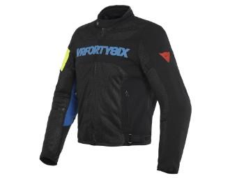Motorradjacke Dainese VR46 Grid Air Tex Jacket schwarz blau gelb