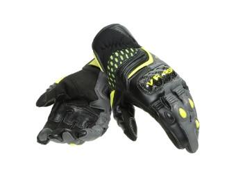 Motorradhandschuhe Dainese VR46 Sector Short Gloves schwarz anthrazit gelb