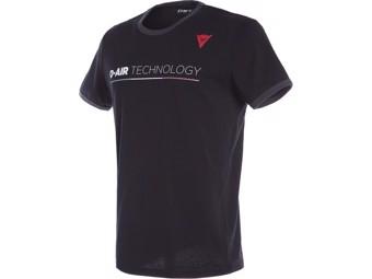 T-Shirt Dainese D-air Technology schwarz