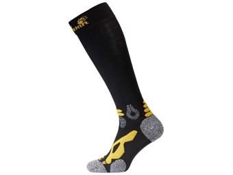 Socken Jack Wolfskin Trekking Merino Compression Socks black