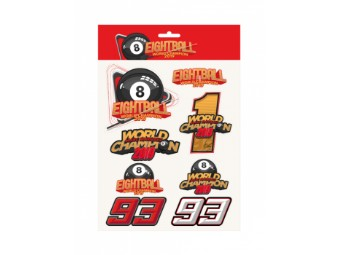 Stickerset MM93 Marc Marquez Eight Ball Big Stickers MotoGP Aufkleber