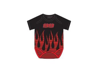 Baby Romper Body 99 Jorge Lorenzo Flames JL99 Babystrampler
