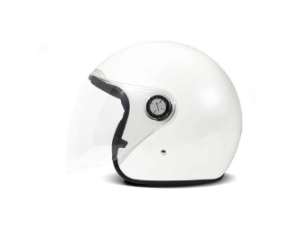 P1 Project One Solid Pearl White Jethelm Motorradhelm weiß