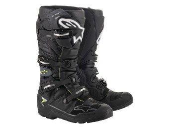 Crossstiefel Alpinestars Tech 7 Drystar Enduro MX Boots black gray