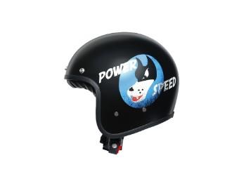 Legends X70 Power Speed Matt Black Open Face Helm Jethelm Motorradhelm