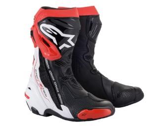 Stiefel Alpinestars Supertech R Boots 2021 Black White Red