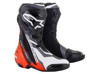 Stiefel Alpinestars Supertech R Boots 2021 Black Red Fluo White