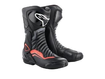 Motorradstiefel Alpinestars SMX 6 V2 schwarz grau rot fluo