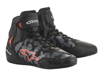 Motorradschuhe Alpinestars Faster 3 Shoes black grey camo red