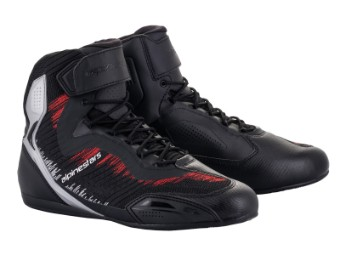 Motorradschuhe Alpinestars Faster 3 RideKnit Shoes black silver bright red