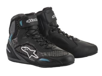 Motorradschuhe Alpinestars Stella Faster 3 RideKnit Shoes schwarz blau