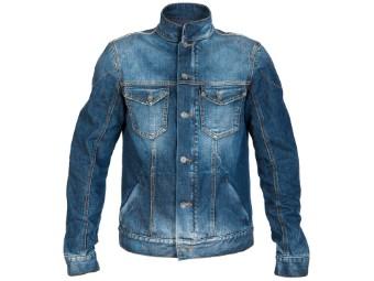 Motorradjacke PMJ Jack West Denim Blue Jeansjacke mit Protektoren