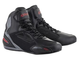 Motorradschuhe Alpinestars Faster 3 Drystar Shoes black gray red