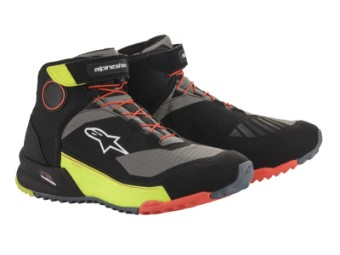 Motorradschuhe Alpinestars CR-X Drystar Shoes black yellow red fluo