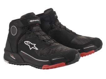 Motorradschuhe Alpinestars CR-X Drystar Shoes black camo red