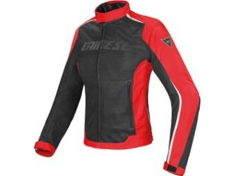 Motorradjacke Dainese Hydra Flux D-Dry Lady rot/schwarz/weiß