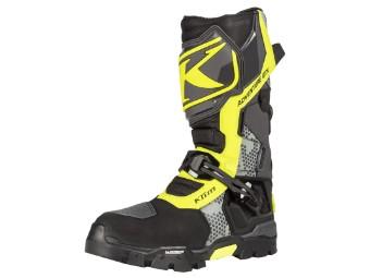 Motorradstiefel Klim Adventure GTX Boots Gore Tex grau neongelb