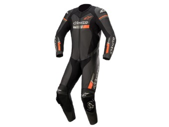 Lederkombi Alpinestars GP Force Chaser Einteiler black red fluo
