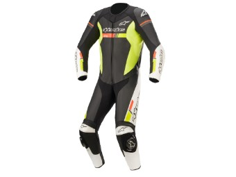 Lederkombi Alpinestars GP Force Chaser Einteiler black white red yellow fluo