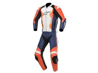 Lederkombi Alpinestars GP Force 2PC Zweiteiler rot fluo schwarz weiß orange