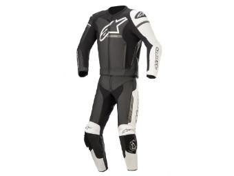 Lederkombi Alpinestars GP Force Phantom 2PC Suit Zweiteiler black white metallic grey