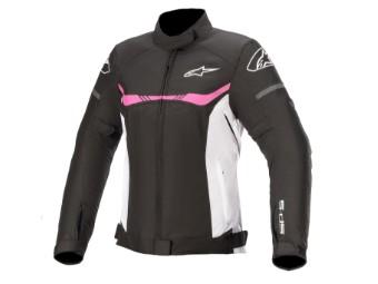 Motorradjacke Alpinestars Stella T-SPS Waterproof Lady Jacket schwarz weiß pink