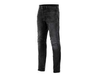 Motorradjeans Alpinestars Diesel AS-DSL Shiro Denim Pants black overdyed