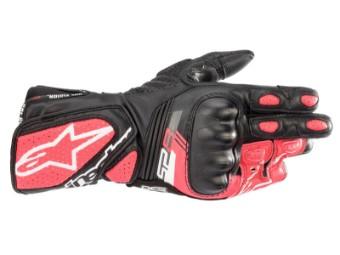 Motorradhandschuhe Alpinestars Stella SP-8 V3 Gloves Lady schwarz weiß pink