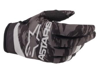 Crosshandschuhe Alpinestars Youth Radar Gloves 2022 black gray