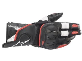 Motorradhandschuhe Alpinestars SP-2 V3 Gloves schwarz weiß rot