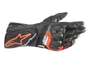 Motorradhandschuhe Alpinestars SP-8 V3 Gloves schwarz rot fluo