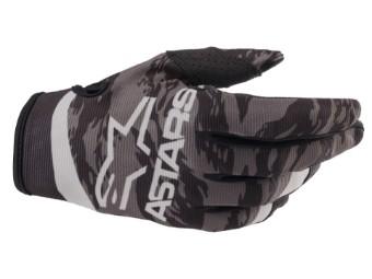 Crosshandschuhe Alpinestars Radar Gloves 2022 black gray camo