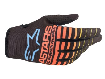 Crosshandschuhe Alpinestars Radar Gloves 2022 black yellow fluo coral