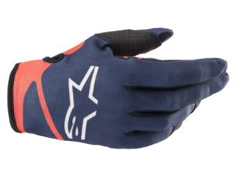 Crosshandschuhe Alpinestars Radar Gloves 2022 dark blue red fluo