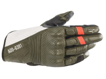 Motorradhandschuhe Alpinestars AS-DSL Kei Gloves forest black white red
