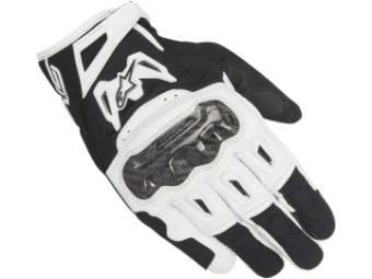 Motorradhandschuhe Alpinestars SMX 2 Air Carbon V2 Gloves schwarz/weiß