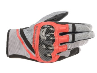 Motorradhandschuhe Alpinestars Chrome Gloves grau schwarz rot