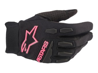Crosshandschuhe Alpinestars Stella Full Borre Lady Gloves black pink fluo