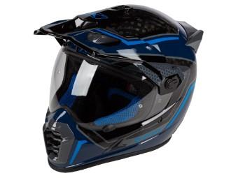 Helm Klim Krios Pro Mekka Kinetic Blue schwarz blau Dual Sport Adventure