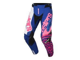 Crosshose Alpinestars Techstar Venom Pants 2018 blue/pink-fluo