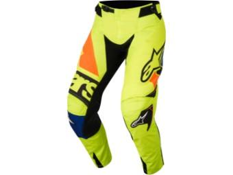 Crosshose Alpinestars Racer Techstar Factory Pants 2018 yellow fluo/ blue