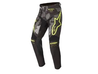 Crosshose Alpinestars Racer Tactical Pants 2020 black grey camo yellow fluo