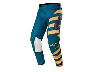 Crosshose Alpinestars Racer Braap Pants 2019 petrol/tan/maroon