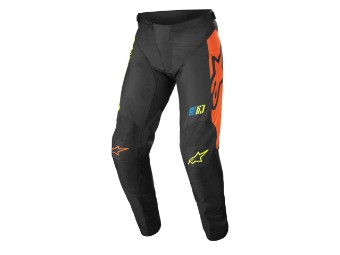 Crosshose Alpinestars Racer Compass Pants 2022 black yellow fluo coral
