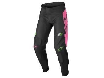 Alpinestars Racer Compass Pants 2022 svartgröna neonrosa korsbyxor