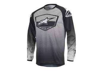 Crosshemd Alpinestars Racer Supermatic Jersey 2017 black/grey/white