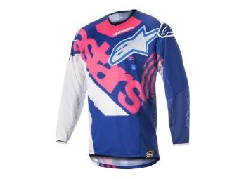 Crosshemd Alpinestars Techstar Venom Jersey 2018 blue/pink-fluo